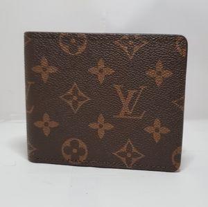Lv monogram brown wallet